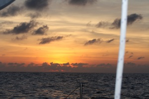 Sunset at sea.