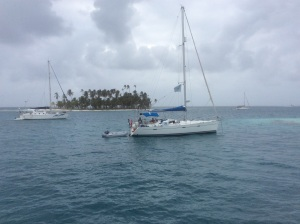 "Our immediate neighbor is fellow Odyssey boat ""Tom Tom""."