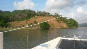 We anchored near the remains of one of the Portobelo forts.