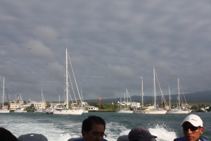 Ferry leaving Santa Cruz