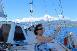 Hallie says goodbye to Tahiti.