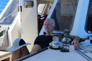 Bill says it's great to be sailing again.