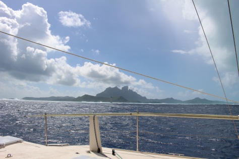 Sailing to Bora Bora
