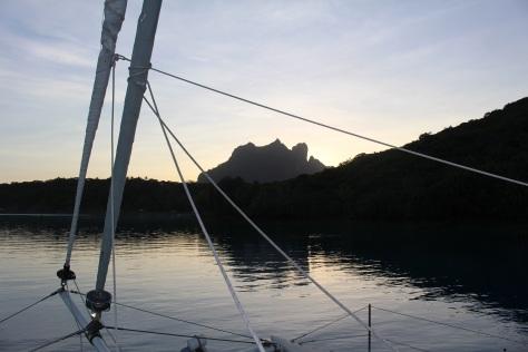 Leaving Bora Bora in the morning