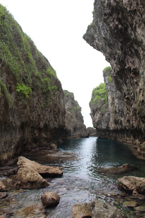 Matapa Chasm - the water is 30 feet deep, so you can jump off the cliff...