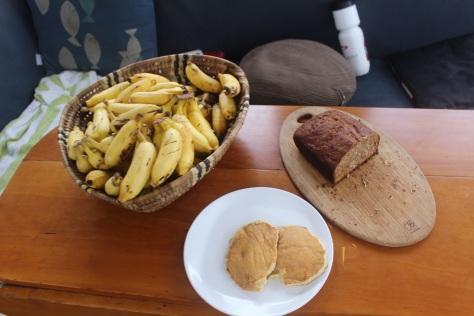 Banana pancakes, banana bread, bananas...
