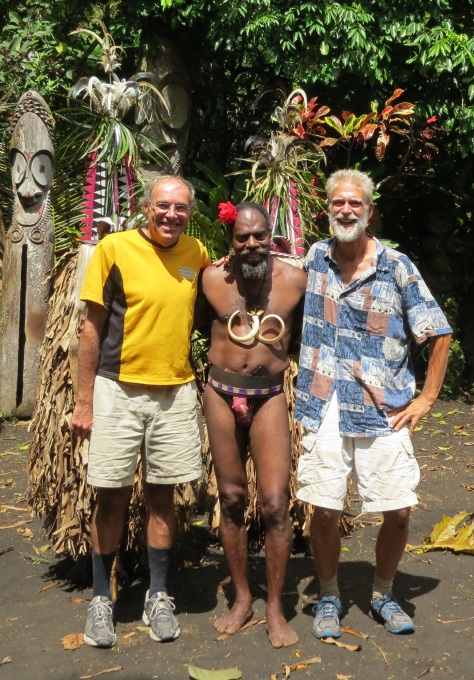 Bob and me with Chief Sekor and the Rom
