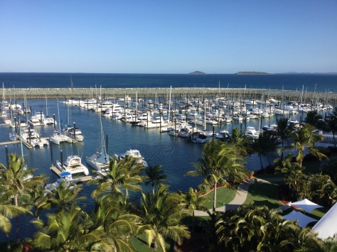 View from our hotel room overlooking the marina.