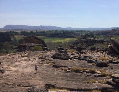 Back to the bus after a joyous morning at Ubirr Rock.
