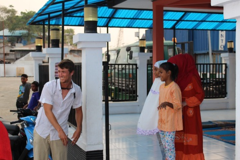 Jesse meets three young ladies at the prayer house near the dock...