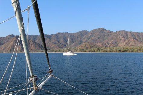 Approaching our anchorage at Komodo