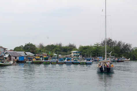 Throughout Indonesia, lots of fishing boats!
