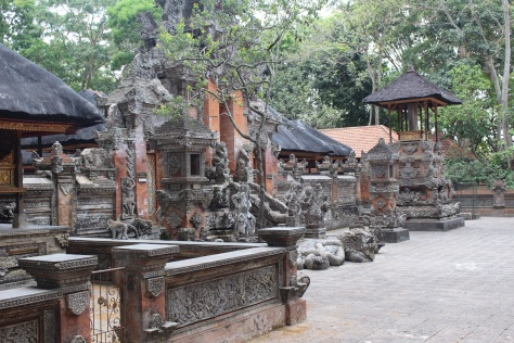 Temple at the Ubud monkey forest