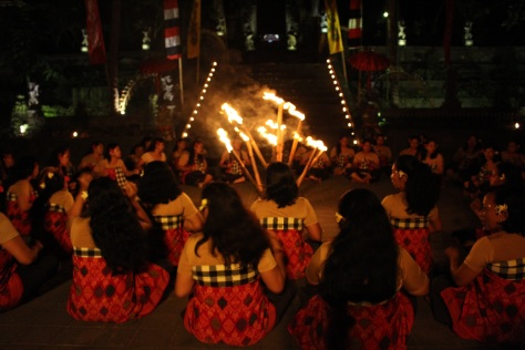 Back to Ubud for the start of the Kecak Fire Dance