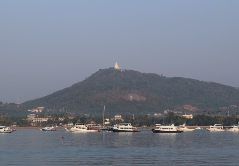Chalong Bay is watched over by a giant Buddha