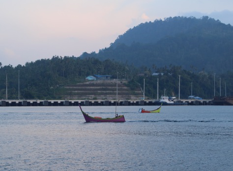 One thing I love about Indonesia is the exuberant colors, including on the local fishing boats!