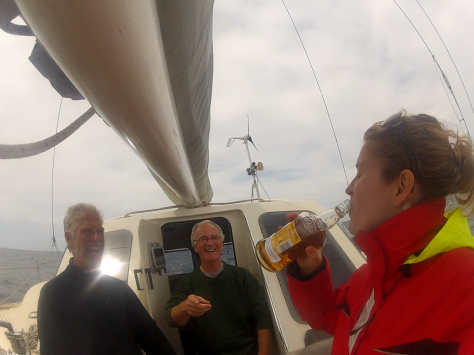 Ceremonial tot off of Cape Agulhas, courtesy of Nora's GoPro.