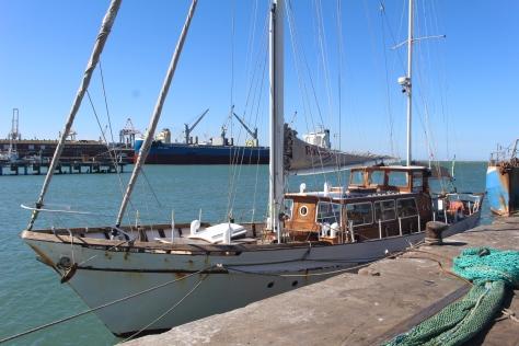 The Howard Davis, Wavy's training vessel.
