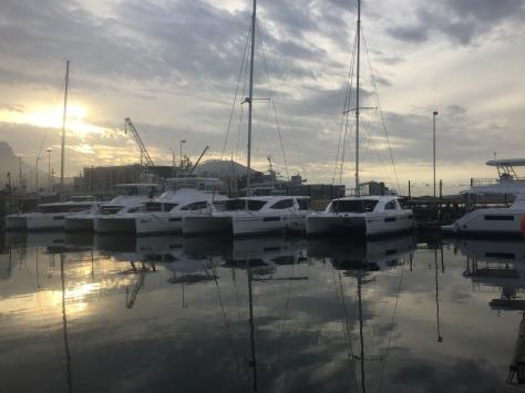 Brand new Leopard catamarans.