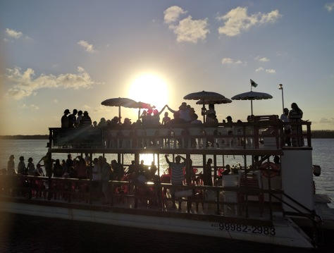 Late afternoon brings several party boats up the river, music blaring and guests drunkenly dancing. Not sure who comes here to party; maybe we will try it one day...