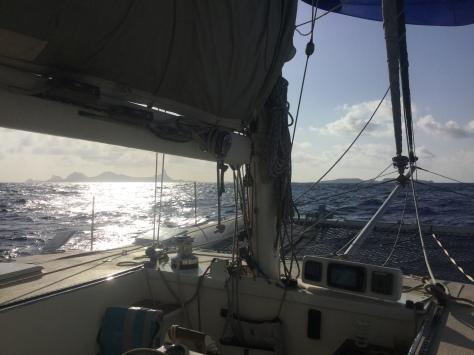 Approaching Fernando de Noronha