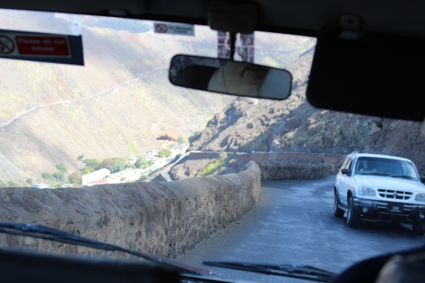 Challenging driving...uphill has right of way