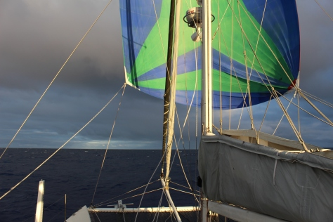 The spinnaker that I carried as checked baggage to Mauritius saw lots of action!