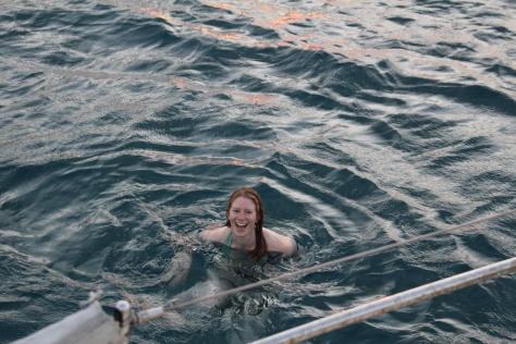 Ahhhhh, it's been 4 months sailing; first time in the water!