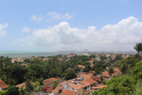 At the top of our hill is a church with a fabulous view, plus a building where you can pay a couple dollars to take an elevator up to a complete panoramic view of Olinda and beyond.