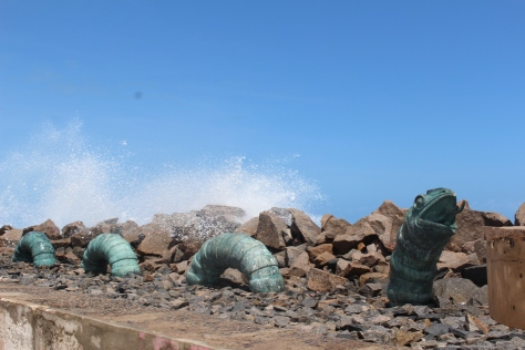 And the sculptures on the breakwater