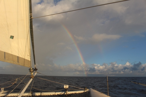 Barbados emerges under a rainbow