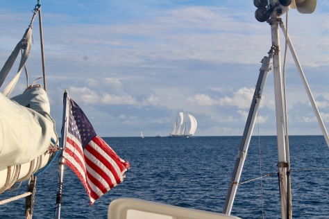 There was a big race around the island the day we arrived, including this 211 foot vessel.