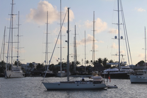 ...with the supersailingyachts...(the black one on the right showing us how to back in to a tight parking space)...