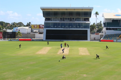 Cricket match at Kensington Oval