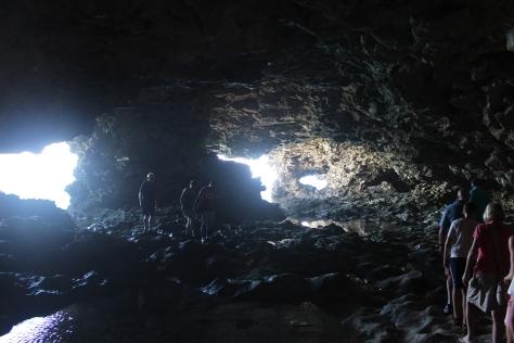 Exploring a sea cave