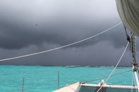 Some weather approaches Tobago Cays